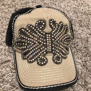 Olive & Pique rhinestone trucker hat